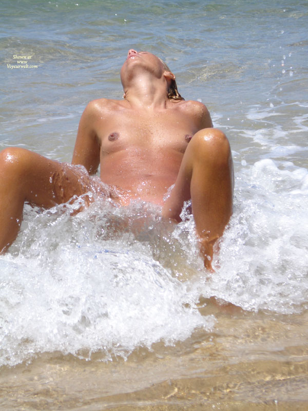 Girl Spreading Legs In Surf - Small Tits, Topless , Legs Bent And Open, Topless At Beach, Ocean Ecstasy, Waves Of Pleasure, Skinny Dipping, Shoreside Voyeur, Waves Lapping At The Vulva, In The Surf, Head Thrown Back, Sitting Back In Waves