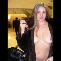 Nude Girl Wearing Mink Coat Flashing Breast At Airport - Black Hair, Blonde Hair, Blue Eyes, Flashing, Long Hair, Natural Tits, Navel Piercing, Nude In Public, Perfect Tits, Naked Girl, Nude Amateur , Medium Natural Tits, Nipples Out In Public, Exhibitionism, Black Fur Coat And Bare Breasts, Flashing In Public, Open Fur Coat In Public, Blond Flashing In Public, Nip Flash, Walking Through Airport, Nude In Brown Fur Coat, Nothing Undernrath, Opened Fur