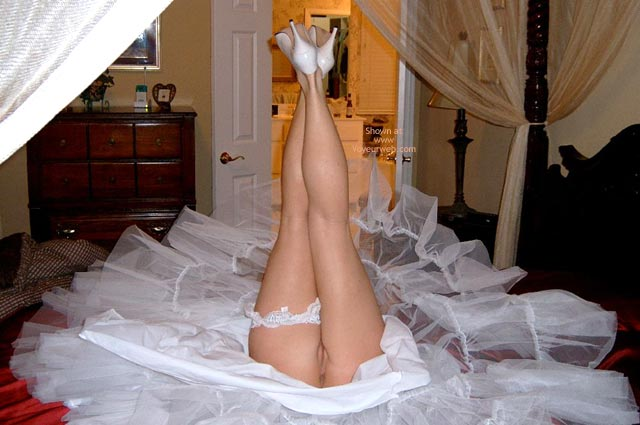Naked In A White Dress - White Dress , Naked In A White Dress, Closeup Of Ass And Pussy, Naked With Legs In The Air, Legs Up Wedding Dress, Posing On Bed