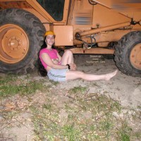 Kajira'S 1st Contri With Big Tonka Toy