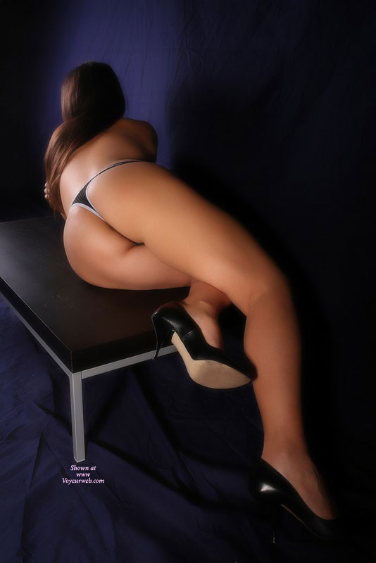 Wife In Black Thong And High Heels - Black Hair, Brown Hair, Brunette Hair, Heels, Long Hair, Long Legs, Hot Wife, Wife Ass , Black Thong, Ass And Legs Toward Camera, G-string Panties, Black Thong, Tanned Ass, Long Smooth Legs, Black Leather High Heels, Brunette Hair, Lying On Bench