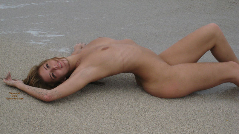 Nude Girl Lying On Beach Arched Back - Small Tits, Looking At The Camera, Naked Girl, Nude Amateur , Profile View, Arched Back, Extremely Sexy Arched Back, Slender Arms, Slim Figure, Nude At Beach, Nice Slender Figure
