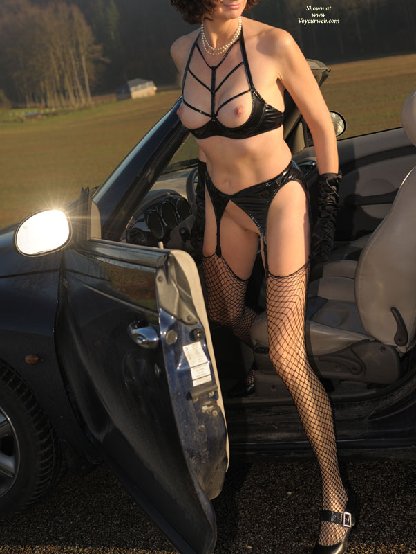 Naked Fetish Girl And A Car - Long Legs, Perky Nipples, Shaved Pussy, Stockings , Garters With Fishnet Stockings, Pearl Necklace Black Heels With Buckle Straps, Fetish Sexy Set, Pointed Nipples, Black Vinyl Fetish Bra And Garter, Pvc Fetish, Fetish Bra, Vinyl Kink, Black Fishnet Stockings, Black Satin Gloves, Long Lean Legs, Black Gloves
