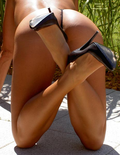 Black Thong - Heels, Thong , Black Thong, Ass In The Air, Black High Heels