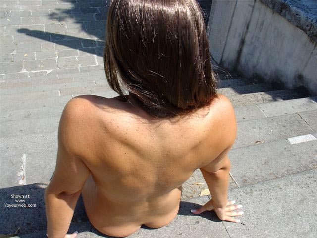 Pic #1 Long Hair Lady Walks Nude Under The Sun