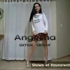 Angelina's Erotic Dance - Brunette, Striptease