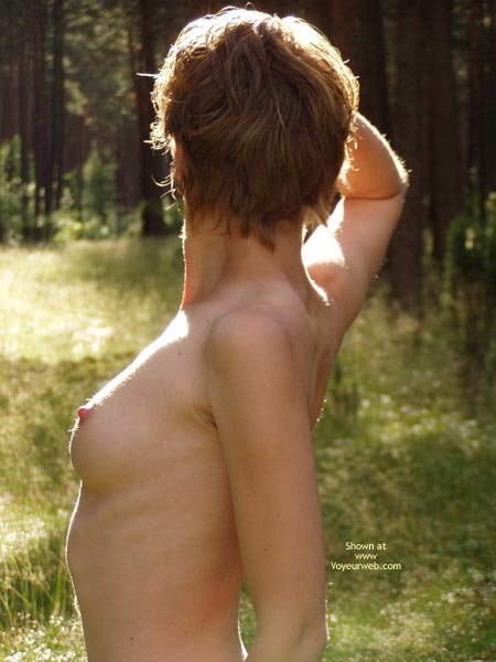 Outdoor short hair voyeur amateur