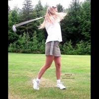 Julie Gone Golfing