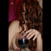 Topless Girl Drinking Wine - Long Hair, Milf, Red Hair, Topless , Naked Model Subverted By Wine Glass, Red Haired Milf, Red Wine, Topless Girl Fingers Wine Glass, Red Head With Red Wine, Wine Glass, Lots Of Freckles, Medium-sized Breasts, Long Red Hair