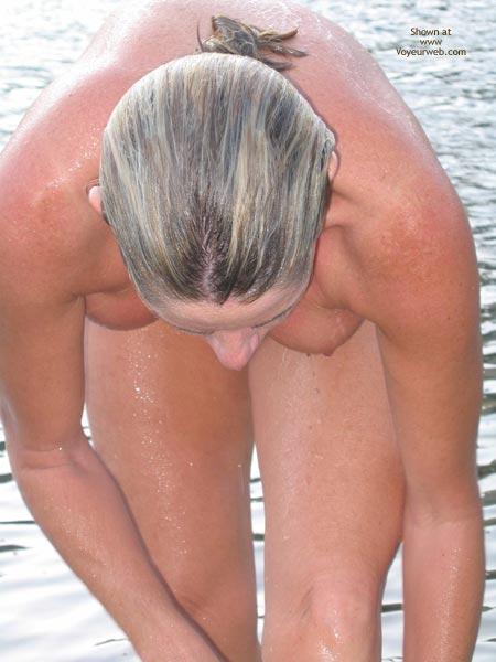 Bending Down Naked , Bending Down Naked, Wet Hair