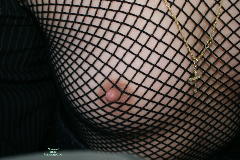 Nipple Caught In Fishnet , Close-up Of Breast, Jail Nipple, Fishnet Top With Perky Nipple, Untanned Tit, Nipple Escaping Fishnet, Breast In Fishnet, Small Aerola, Nipple Shot, Fishnet Boob, Nipple In The Net, Black Fishnet Shirt, Black See Through Top, Pointed Nipple