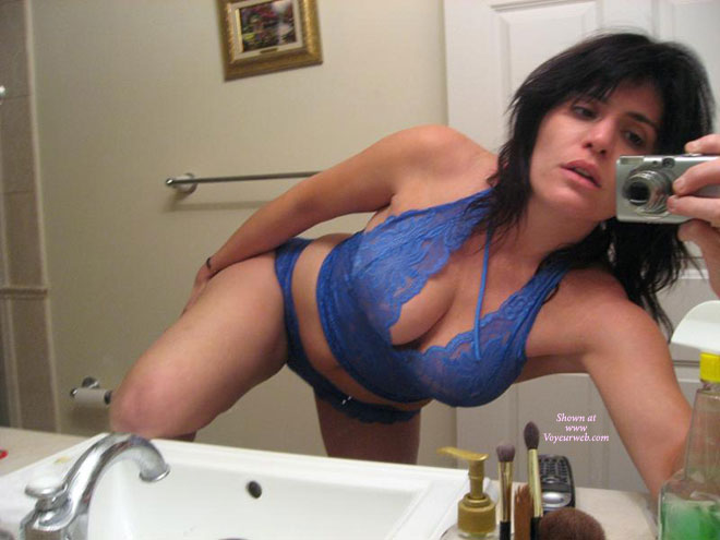 Self-shot Milf - Milf, Self Shot , Knee On Bathroom Countertop, Blue Baby Doll, Bent Over Sink, Blue Lace Panties, Nice Large Milf Tits, Blue Lace Halter Top, Self Pic In Bathroom, Self Picture, Selfportrait In Bathroom Mirror