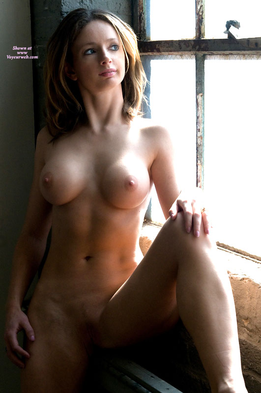 Girl Next Door - Landing Strip, Large Breasts, Naked Girl, Nude Amateur , Frontal Nude Against Window, Perfect Round Aerolas, Poseing By Window, Open Legs, Beautiful Breasts, Large Round Tits, Sitting In Window, Fit Body Nice Tits